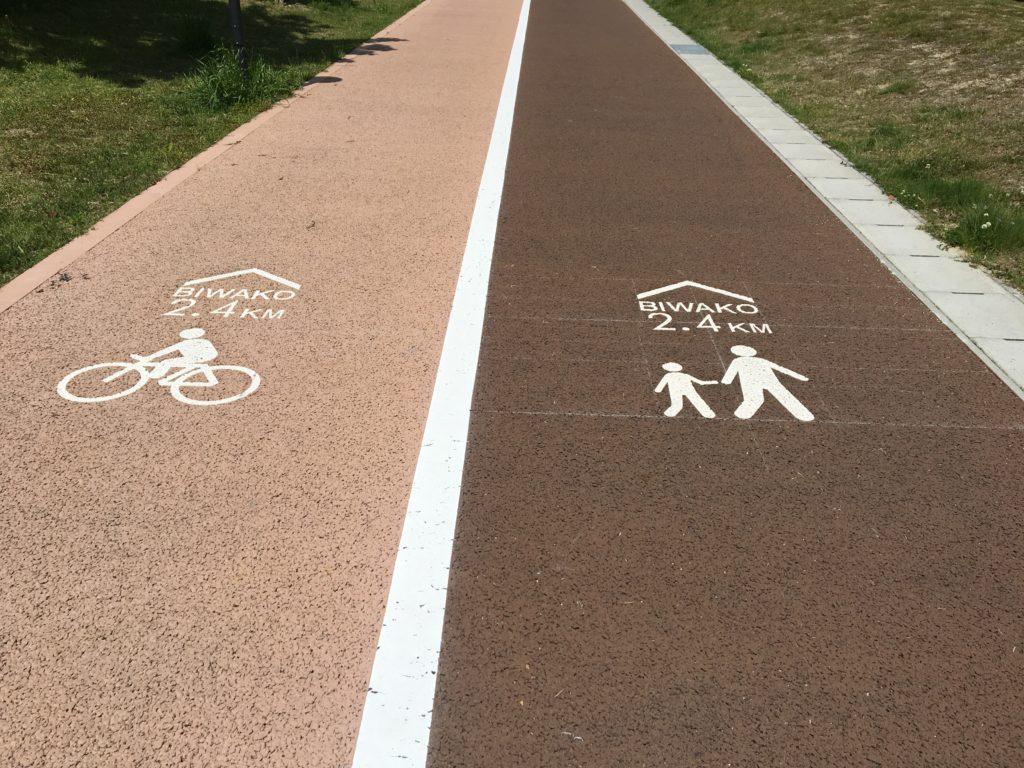 ai彩ひろばの自転車通路・歩行者通路画像
