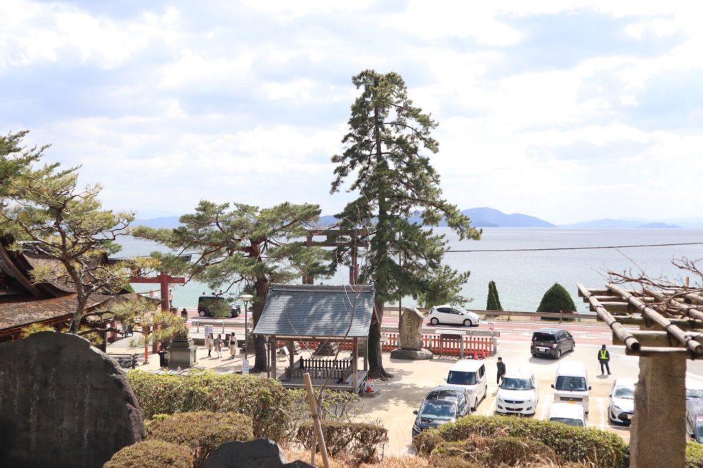 白鬚神社内から見た風景画像